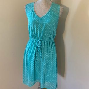 Turquoise Dress Semi Hi-Low